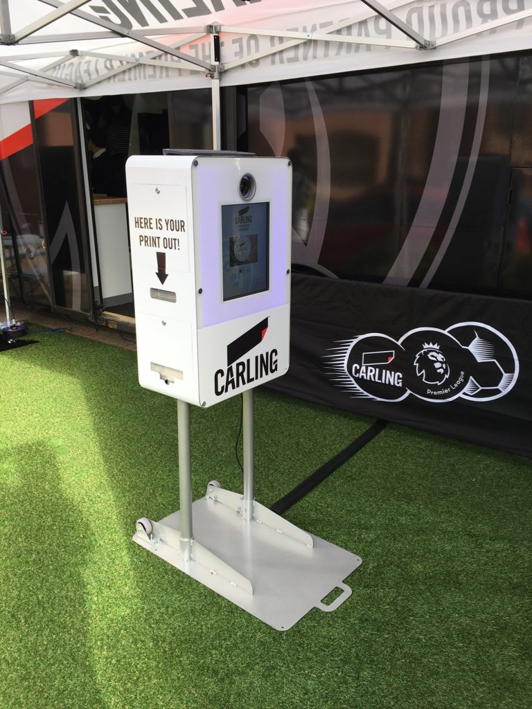 Carling branded gid booth in situ